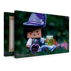 Premium Textil-Leinwand 45 cm x 30 cm quer Lilly geht aufs Oktob