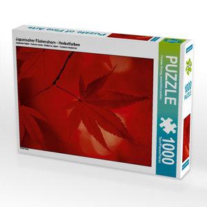 Japanischer Fächerahorn - Herbstfarben 1000 Teile Puzzle quer
