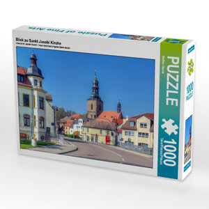 CALVENDO Puzzle Blick zu Sankt Jacobi Kirche 1000 Teile Lege-Grö