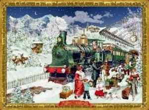 Adventskalender - Nostalgische Eisenbahn