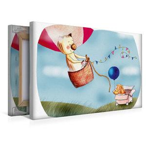 Premium Textil-Leinwand 45 cm x 30 cm quer Ballonfahren ist so a