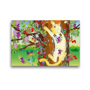 Premium Textil-Leinwand 45 cm x 30 cm quer Auf den Baum