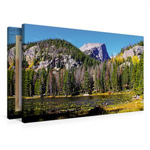 Premium Textil-Leinwand 75 cm x 50 cm quer Rocky Mountain Nation
