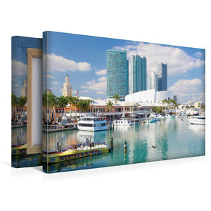 Premium Textil-Leinwand 45 cm x 30 cm quer Miami