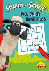 Pixi kreativ Nr. 77: VE 5 Shaun das Schaf: Voll bunter Rätselspa