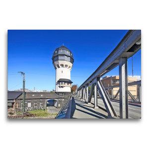 Premium Textil-Leinwand 75 cm x 50 cm quer Wasserturm Darmstadt