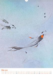 Jahreszeiten in Stil japanischer Malerei - Kunst