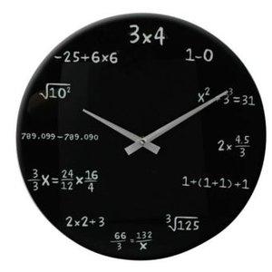 Wanduhr Mathematik