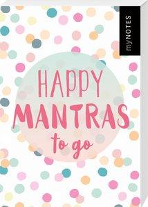 myNOTES Happy Mantras to go - 50 Kärtchen zum Glücklichsein
