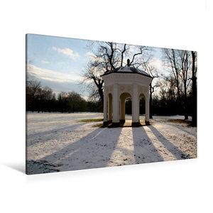 Premium Textil-Leinwand 120 cm x 80 cm quer Tempel im Clara-Zetk