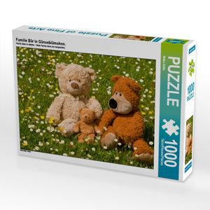 Familie Bär in Gänseblümchen. 1000 Teile Puzzle quer