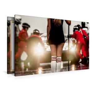 Premium Textil-Leinwand 120 cm x 80 cm quer Gridgirl in der Stat