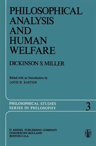 Philosophical Analysis and Human Welfare