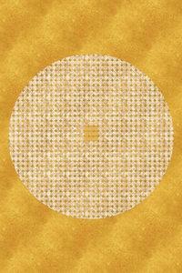 Premium Textil-Leinwand 50 cm x 75 cm hoch Goldenes Mandala