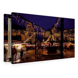 Premium Textil-Leinwand 75 cm x 50 cm quer Weihnachtsmarkt