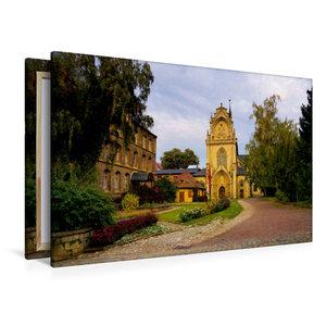 Premium Textil-Leinwand 120 cm x 80 cm quer Kloster Pforta