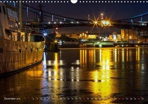 Nachts in Wilhelmshaven Edition mit maritimen Motiven