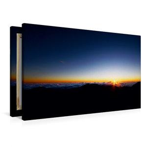 Premium Textil-Leinwand 90 cm x 60 cm quer Haleakala Sunrise