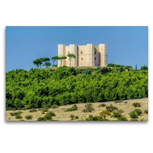 Premium Textil-Leinwand 120 cm x 80 cm quer Castel del Monte
