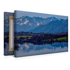 Premium Textil-Leinwand 45 cm x 30 cm quer Riegsee bei Murnau
