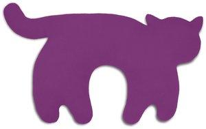Katze Feline stehend groß Purpur, Nackenkissen