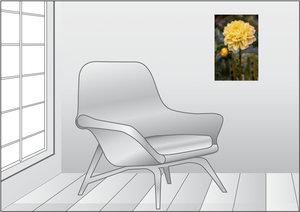 Premium Textil-Leinwand 30 cm x 45 cm hoch Dahlie