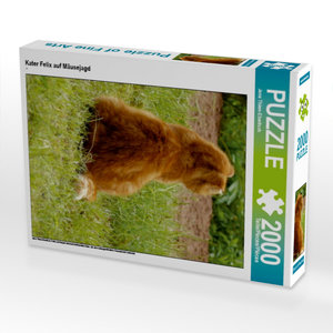 Kater Felix auf Mäusejagd 2000 Teile Puzzle hoch