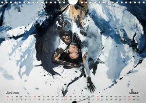 FARBSPIELE - Akt im Feuerwerk der Farben (Wandkalender 2020 DIN
