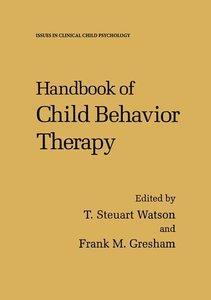 Handbook of Child Behavior Therapy