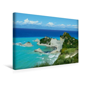 Premium Textil-Leinwand 45 cm x 30 cm quer Kap Drastis, Korfu