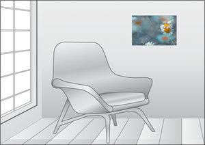 Premium Textil-Leinwand 45 cm x 30 cm quer Kamille