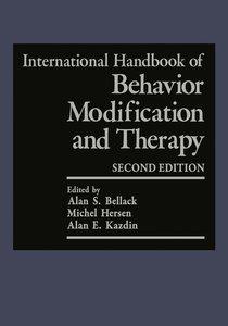 International Handbook of Behavior Modification and Therapy