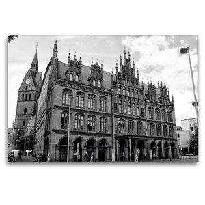 Premium Textil-Leinwand 120 cm x 80 cm quer Altes Rathaus