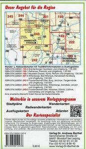 Radwander- und Wanderkarte Flusslandschaft Elbe, Stendal, Arnebu