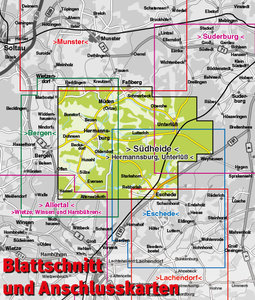 Südheide. Hermannsburg und Unterlüß 1 : 12 500