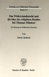Das Widerstandsrecht und die Idee des religiösen Bundes bei Thom