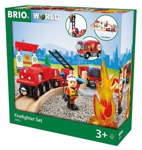 BRIO 33815000 Bahn Feuerwehr Set
