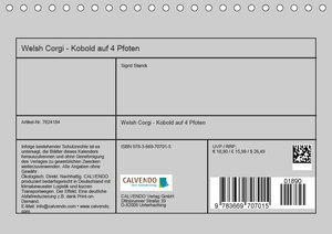 Welsh Corgi - Kobold auf 4 Pfoten (Tischkalender 2019 DIN A5 que