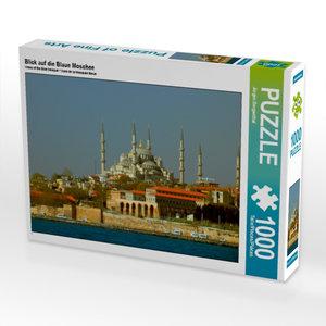Blick auf die Blaue Moschee 1000 Teile Puzzle quer