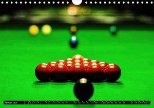 Billard. Konzentration - Sport - Spannung (Wandkalender 2020 DIN