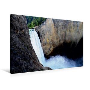 Premium Textil-Leinwand 75 cm x 50 cm quer Der Yellowstone Wasse