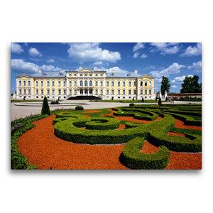 Premium Textil-Leinwand 75 cm x 50 cm quer Schloss Ruhenthal/Run