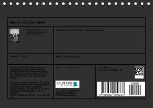 Meine Sicht der Alpen (Tischkalender 2019 DIN A5 quer)