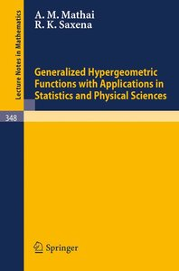 Generalized Hypergeometric Functions with Applications in Statis
