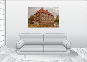 Premium Textil-Leinwand 120 cm x 80 cm quer Schloss Oberwerries