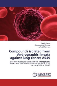 Compounds isolated from Andrographis lineata against lung cancer