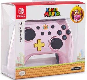 PowerA Wired Controller, Super Mario, Chrome Pink Peach, für Nin