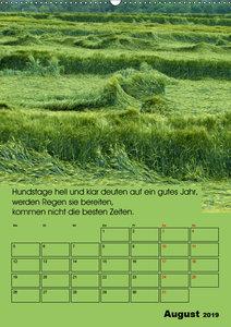 Wetter-Regeln der Bauern (Wandkalender 2019 DIN A2 hoch)