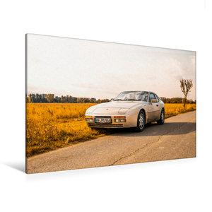 Premium Textil-Leinwand 120 cm x 80 cm quer Porsche 944 S2 in he
