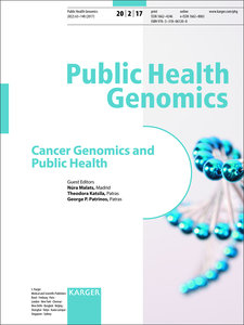 Cancer Genomics and Public Health